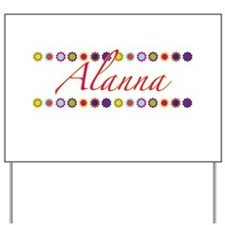 Alanna with Flowers Yard Sign