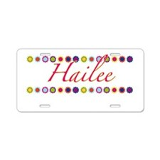 Hailee with Flowers Aluminum License Plate