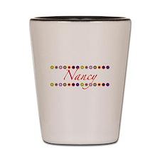 Nancy with Flowers Shot Glass