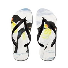 Penguins- God's Creatures Flip Flops