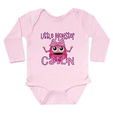 Little Monster Caitlin Long Sleeve Infant Bodysuit