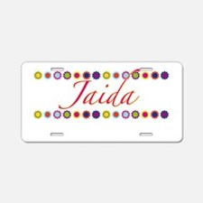 Jaida with Flowers Aluminum License Plate