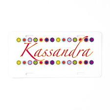 Kassandra with Flowers Aluminum License Plate