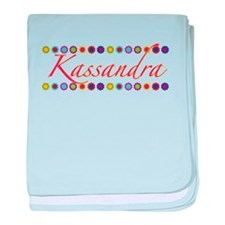 Kassandra with Flowers baby blanket