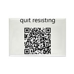 Quit Resisting Rectangle Magnet (10 pack)
