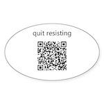 Quit Resisting Sticker (Oval 10 pk)