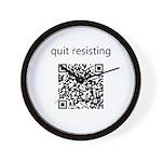 Quit Resisting Wall Clock