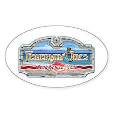 Fishermin Jin Oval Bumper Stickers