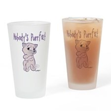Nobody's Purrfect Drinking Glass