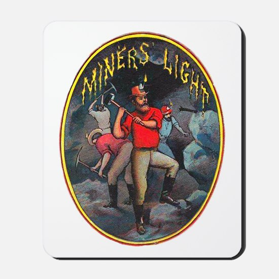 Miner's Light Cigar Label Mousepad
