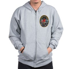 Miner's Light Cigar Label Zip Hoodie