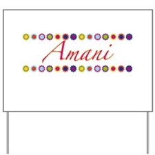 Amani with Flowers Yard Sign