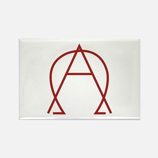 Alpha Omega - Dexter Rectangle Magnet