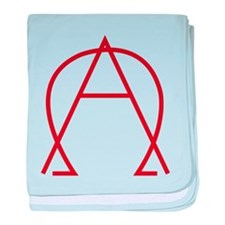 Alpha Omega - Dexter baby blanket