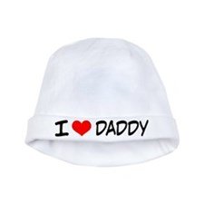 I Love Daddy Cute Baby Beanie Hat