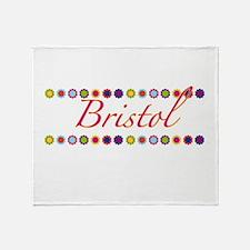 Bristol with Flowers Throw Blanket