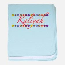 Kaliyah with Flowers baby blanket