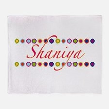 Shaniya with Flowers Throw Blanket