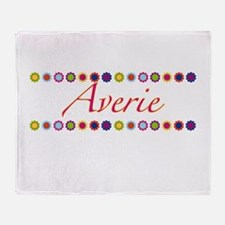 Averie with Flowers Throw Blanket