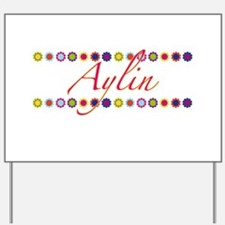 Aylin with Flowers Yard Sign