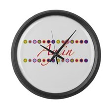 Aylin with Flowers Large Wall Clock
