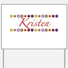 Kristen with Flowers Yard Sign