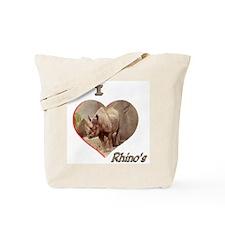 I Love Rhino's Tote Bag