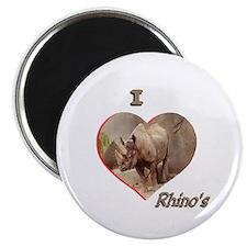 I Love Rhino's Magnet