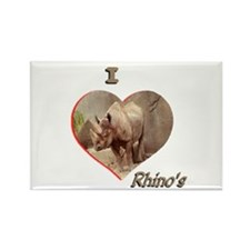 I Love Rhino's Rectangle Magnet