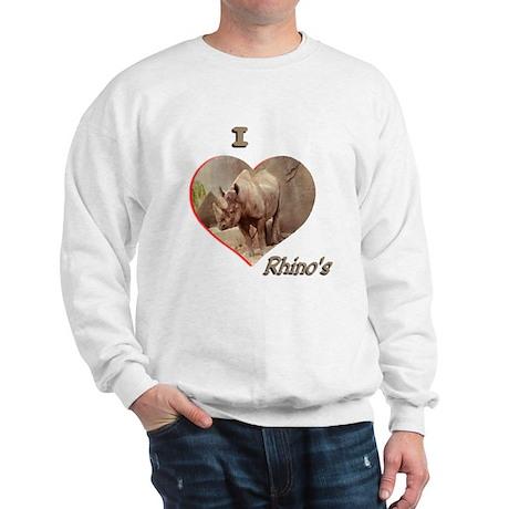 I Love Rhino's Sweatshirt