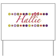 Hallie with Flowers Yard Sign