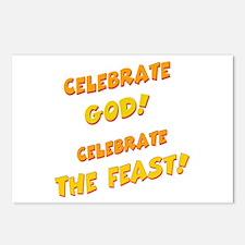 Celebrate God Postcards (Package of 8)