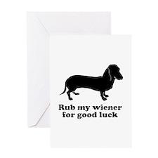 Rub my wiener Greeting Card