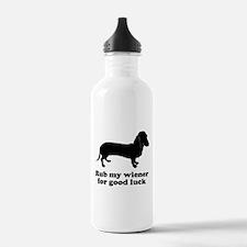 Rub my wiener Water Bottle