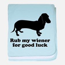 Rub my wiener baby blanket