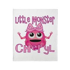 Little Monster Cheryl Throw Blanket