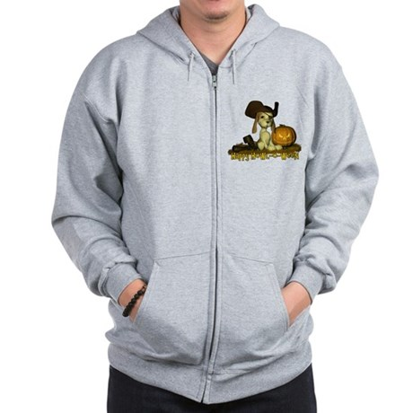 Happy Howl-o-ween Zip Hoodie