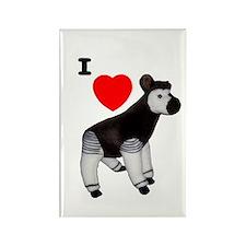 I Heart Okapi Rectangle Magnet