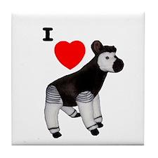 I Heart Okapi Tile Coaster