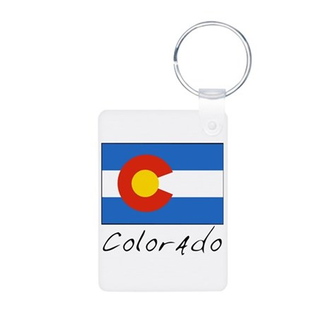 Colorado (State Flag) Aluminum Photo Keychain