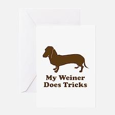 My Weiner Does Tricks Greeting Card