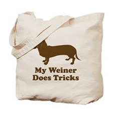 My Weiner Does Tricks Tote Bag