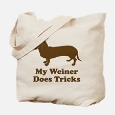 My Weiner Does Tricks Tote Bag