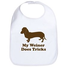 My Weiner Does Tricks Bib