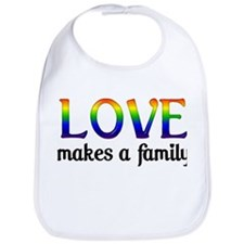 Love Makes A Family Bib