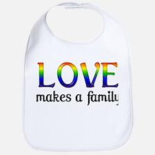 Love Makes A Family Bib