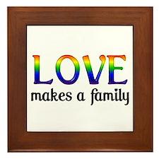 Love Makes A Family Framed Tile