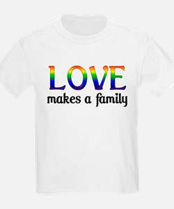 Love Makes A Family Kids T-Shirt