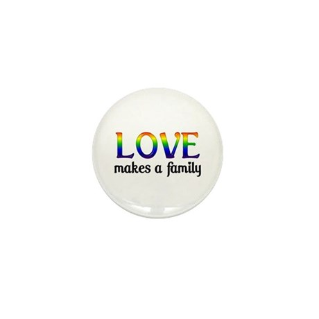 Love Makes A Family Mini Button (100 pack)
