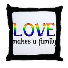 Love Makes A Family Throw Pillow
